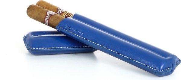 Reinhold Kühn Dubbele Sigarenhoes Gevoerde Top Blauw