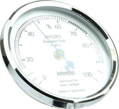 Adorini haarhygrometer Zilver