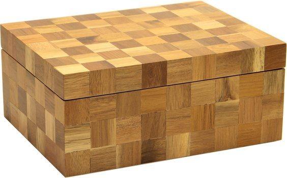 Humidor houten vierkantjes