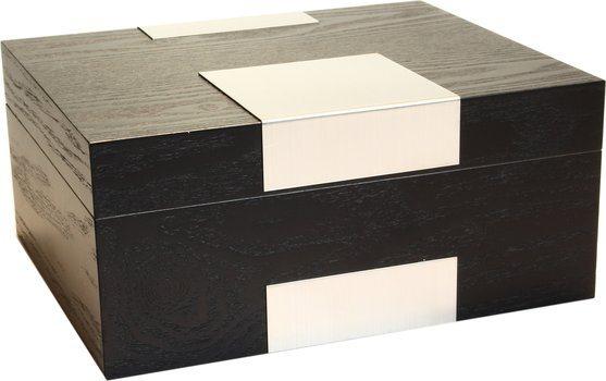 Humidor Real Wood Veneer zwarte afwerking