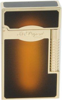ST Dupont Line 2 Aansteker Le Grand sun burst bruin Lak/ goud
