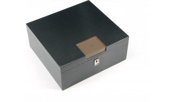 HF Barcelona B Smart Desktop Humidor bruine koolstof