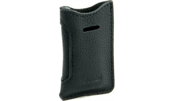 adorini leren tas zwart voor ST Dupont slanke aanstekers
