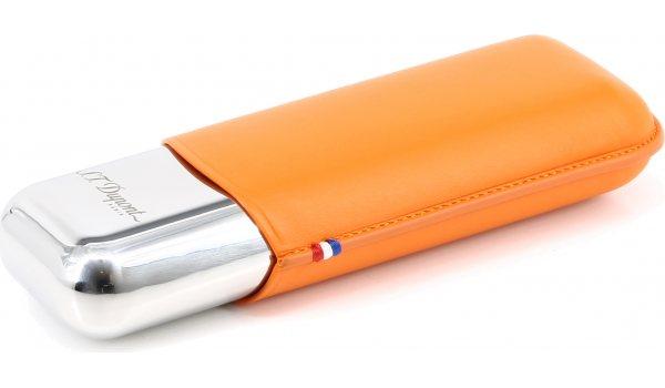 ST Dupont metalen dubbele sigarenkoker oranje