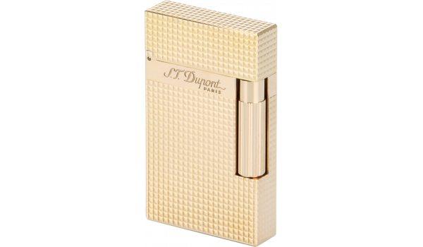 Aansteker, roze gouden afwerking met diamanten kop, S.T. Dupont Ligne 2 16424