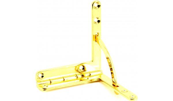 Gouden Platen Kwadrant Scharnier - Groot 60 x 56 mm