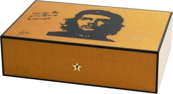 Elie Bleu Wooden Humidor 'Che' orange sycamore