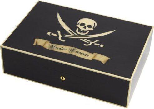 Elie Bleu Piratenschat Humidor Zwart Esdoorn 110 Sigaren