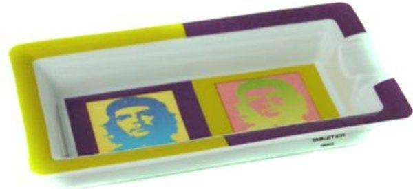 Elie Bleu Che Pop Art Porseleinen Asbak Groen