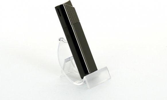 Sarome aansteker piezo zwart nikkel rooster / satijn