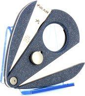 Xikar 2 dubbel lemmet sigarenknipper - Xi2 blauw